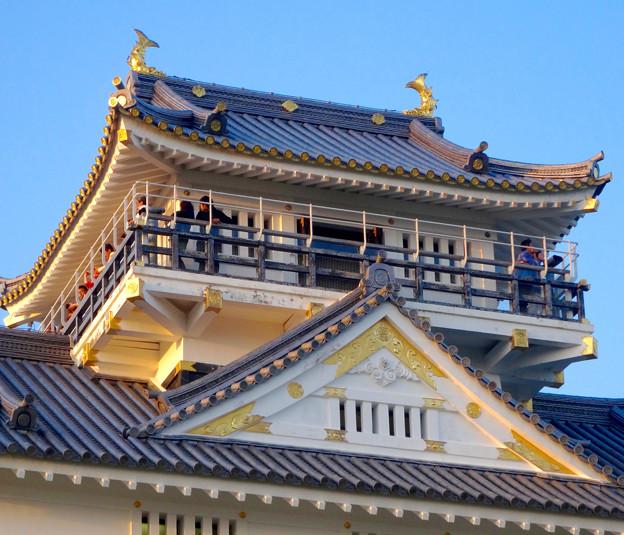 写真: 岐阜城 No - 13:夕暮れ時の岐阜城