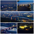 岐阜公園:展望レストランの展望台から見た夜景 - 34