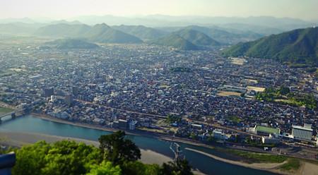岐阜城天守閣から見た景色のミニチュアライズ - 2(長良川方面)