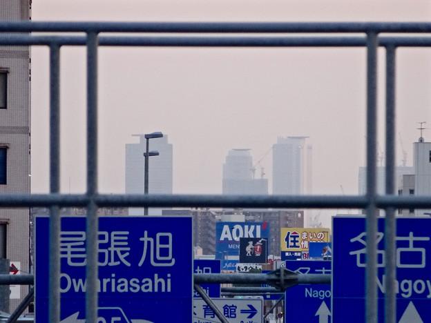 写真: 春日井市内から見た名駅ビル群 - 2