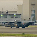 写真: エアポートウォーク名古屋:迷彩柄の自衛隊機