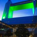 写真: 緑色にライトアップされた、名古屋国際会議場 1号館 - 8
