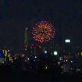 写真: 桃花台(小牧市)から見えた、熱田まつりの花火 - 9