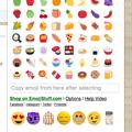 写真: 絵文字入力補助拡張「Emoji Input by EmojiStuff.com」- 2:食べ物