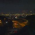 写真: 桃花台から見た、夜の小牧ジャンクションと名駅ビル群(2016年6月、フィルター有り) - 3