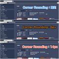 写真: Vivaldi 1.3.501.6:Corner Roundingの設定比較 - 1