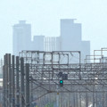 写真: 南大高駅:東海道本線越しに見えた、名駅ビル群 - 3