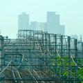 写真: 南大高駅:東海道本線越しに見えた、名駅ビル群 - 6