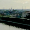 東海道本線車内から見えた、名港トリトン - 4