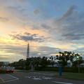 写真: 夕立の後の夕焼け - 1