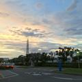 写真: 夕立の後の夕焼け - 2
