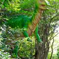 写真: 大高緑地に「ディノアドベンチャー名古屋」がプレオープン! - 80:木の高い部分の葉を食べる(?)パラサウロロフス