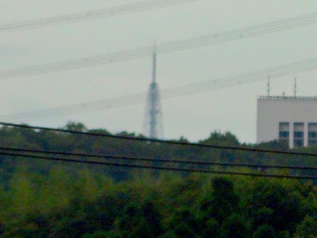 早朝、割りとくっきり見えた、瀬戸デジタルタワー頭頂部