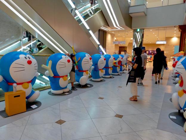 松坂屋美術館『藤子・F・不二雄展』 - 6:入口前に沢山のドラえもん像