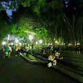 写真: ポケモンGoをやってる人が沢山いた、夜の雨上がりの白川公園 - 3