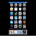 写真: MacでiPhone画面のAirPlayができるアプリ「LonelyScreen」- 6(iPhoneホーム画面、録画ボタン非表示)