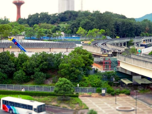 ミニチュアライズ:桃花台線の中央道上効果撤去工事現場付近 - 8(フィルター)