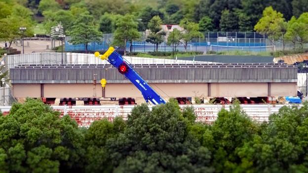 ミニチュアライズ:桃花台線の中央道上効果撤去工事現場付近 - 10(フィルター)
