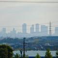 写真: 小牧市東部地区の高台から見下ろした、名駅ビル群 - 1