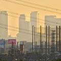 写真: 夕暮れ時の国道19号沿いから見下ろした、名駅ビル群 - 11
