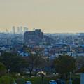 写真: 落合公園:水の塔最上階から見た景色 - 8(名駅ビル群とザ・シーン城北)