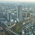 ミッドランドスクエア「スカイプロムナード」から見た景色(夕方) - 2:ささしまライブ24