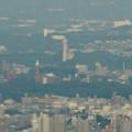 写真: ミッドランドスクエア「スカイプロムナード」から見た景色(夕方) - 42:スカイワードあさひ と金城学院大学のアニー・ランドルフ記念講堂