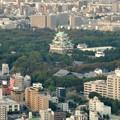 写真: ミッドランドスクエア「スカイプロムナード」から見た景色(夕方) - 55:名古屋城