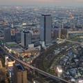 ミッドランドスクエア「スカイプロムナード」から見た景色(夕方) - 93:ささしまライブ24