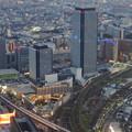 ミッドランドスクエア「スカイプロムナード」から見た景色(夕方) - 94:ささしまライブ24