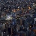 写真: ミッドランドスクエア「スカイプロムナード」から見た夜景 - 1:名古屋高速 新洲崎ジャンクション