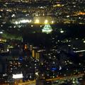 写真: ミッドランドスクエア「スカイプロムナード」から見た夜景 - 29:名古屋城