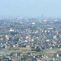 写真: ツインアーチ138展望階から見た景色(2012年6月撮影)- 3:ナゴヤドームとザ・シーン城北