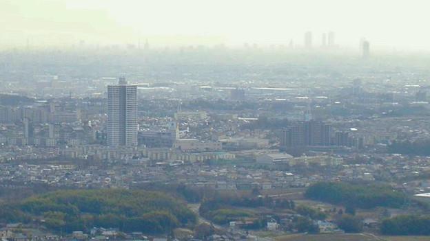 白山神社から見たスカイステージ33と名駅ビル群(2009年3月撮影) - 1