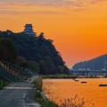 Photos: 夕焼けに染まる犬山城 - 7