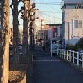 写真: 八田川沿いから見た王子製紙の煙突 - 2
