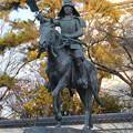 大垣公園 - 28:戸田氏鉄公 騎馬像