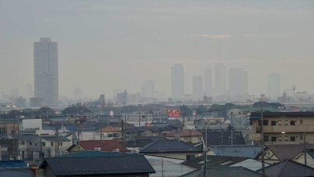 写真: エアポートウォーク名古屋から見た名駅ビル群とザ・シーン城北 - 1