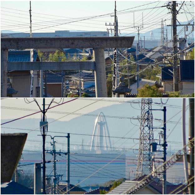 写真: 尾張富士浅間神社から見たツインアーチ138 No - 13