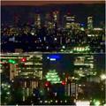 アピタ高蔵寺店の屋上から見えた名駅ビル群と名古屋城