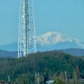 リニモ車内から見えた、雪を戴く御嶽山 - 3