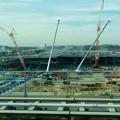 写真: リニモ車内から見えた建設途中の「IKEA長久手」 - 2