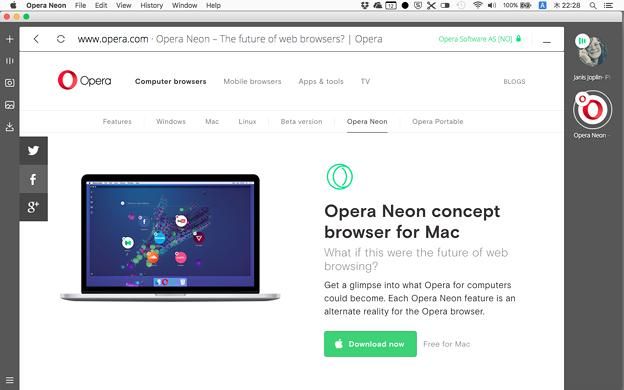 写真: Operaの新しいコンセプトブラウザ「Opera Neon」がリリース! - 2