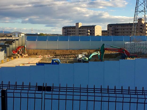 桃花台線の中央道上高架撤去工事高架(撤去後、2017年1月17日):防音壁の設置完了? - 8