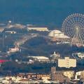 東山スカイタワー展望階から見た景色 - 9:愛・地球博記念公園の大観覧車とリニモ
