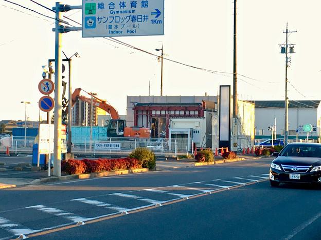 春日井市民病院前の元・回転寿司屋の建物が解体 - 1