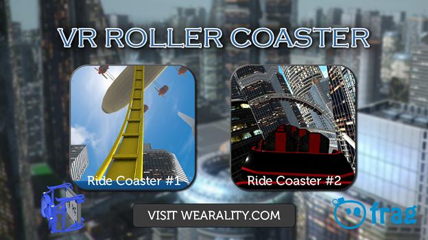 ハコスコでジェットコースターVRが体験できるアプリ「VR Roller Coaster」- 1:トップ画面