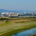 名古屋高速から見た瀬戸デジタルタワーと、金城学院大学関連しているアニー・ランドルフ記念講堂 - 1