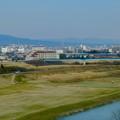 名古屋高速から見た瀬戸デジタルタワーと、金城学院大学関連しているアニー・ランドルフ記念講堂 - 2