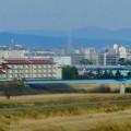 名古屋高速から見た瀬戸デジタルタワーと、金城学院大学関連しているアニー・ランドルフ記念講堂 - 3